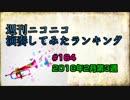 週刊ニコニコ演奏してみたランキング #164 2月第3週