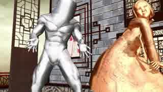 例の銅像二人に踊ってもらったw