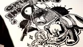 【スプラトゥーン2】消しゴムはんこでサーモンラン作ってみた thumbnail