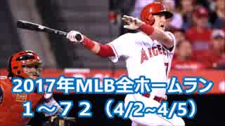 【MLB】2017年メジャー全6105本塁打  Part1(1号~72号)