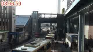 【平日朝ラッシュ】定点観測@戸塚駅西口【10倍速】