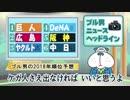 ブル男のプロ野球ニュース「ブル男の2018