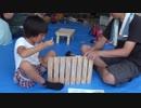 【万葉文化館:匠の村ワークショップ】たためる!小さなテーブル(机)づくり♪パパと一緒にテーブル作りをがんばるあい❤