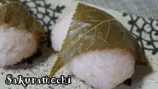 【お菓子作り】道明寺桜餅