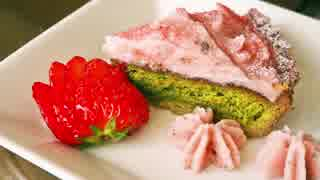 【桜スイーツ】 桜と抹茶のタルト作ってみ