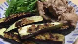 茄子の豚みそ焼き・豚肉炒めを添えて ~奄美大島出張編~【簡単ボッチめし】