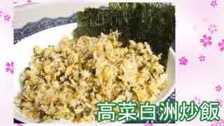 【NWTR食堂】高菜しらす炒飯、茄子の揚げ