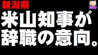 【新潟県】米山知事が辞職の意向 - 女性問題で