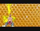 ハチミツを独り占めしようとするこぐま部長