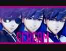 【MMDおそ松さん+人力】SCREAM【黒青白マフィアカラ松】