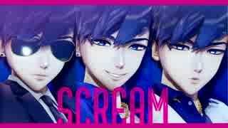 【MMDおそ松さん+人力】SCREAM【黒青白マ