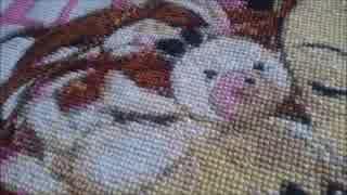 【クロスステッチ刺繍】水瀬伊織をクロスステッチ刺繍で刺してくれた。