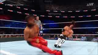 【WWE】AJスタイルズ(ch.)vs中邑真輔【Bac