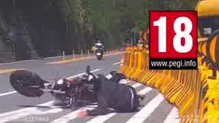【衝撃映像】死亡寸前&危機一髪バイク事故