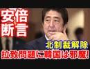 【拉致問題解決に韓国は邪魔だ】 安倍首相が断言!問題解決前に北朝鮮への支援はあ...
