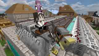 【Minecraft】メイドの村とオッサン工業