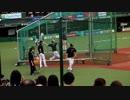 杉谷拳士バッティング練習 in メットライフドーム
