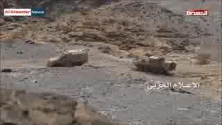 戦場で追突事故を起こし撃破される装甲車