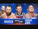 【WWE】ルセフvsサモア・ジョー(レフェリー:ザ・ミズ)【SD 6.12】