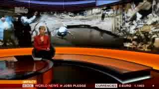 大阪北部地震を英国BBCも報道 国内報道の