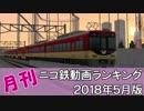 【A列車で行こう】月刊ニコ鉄動画ランキング2018年5月版
