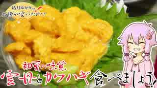 結月ゆかりのお腹が空いたのでVol.24 「初夏の雲丹とカワハギ食べましょう」