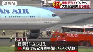 「ダダダダと揺れて衝撃が」大韓航空機が立ち往生