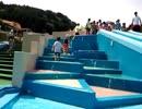 【関西サイクルスポーツセンター:プール】ウォータースライダー すべり台を滑って大喜びのあい!Playing at water park slider! 水遊び お出かけ