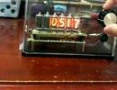 自作ニキシー管時計:時刻合わせの様子