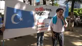 日本ウイグル協会:2018年7月1日 フリーウイグル!中国政府の人権弾圧糾弾デモ
