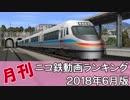 【A列車で行こう】月刊ニコ鉄動画ランキング2018年6月版