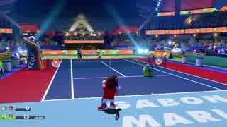 テニスを全く知らないけども、友達とマリオテニスエースをやってみた。