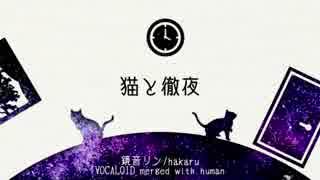【鏡音リン】猫と徹夜【merged with human】