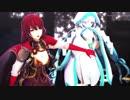 【MMD花騎士】ツバキとネコと小物でNostalogic【1080p】