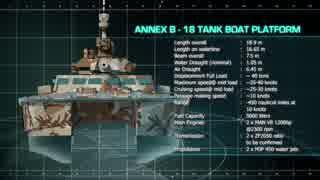105mm砲を搭載した小型舟艇「X18 Tank Boa