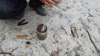 釣り場でコーヒー(インスタント)