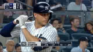 スタントン、史上最速の打球速度196キロで