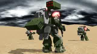 【MMD】砂漠で走らせるテスト