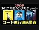 2017年間チャート JPOPコード進行徹底調査