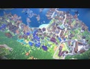 【Minecraft】建築勢205人で海港都市を作ってみた