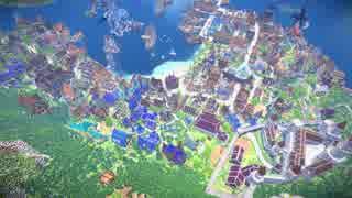 【Minecraft】建築勢205人で海港都市を作