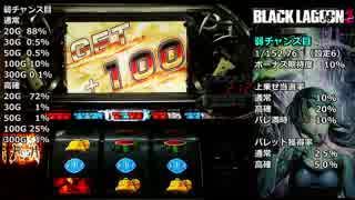 パチスロ BLACK LAGOON2 HRで1000G乗せを