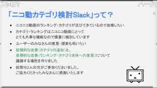 ニコニコ動画カテゴリ検討Slackのふりかえり生放送