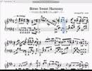 【楽譜】「Bitter Sweet Harmony」【すのはら荘の管理人さん】