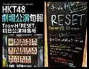 HKT48劇場公演旬報・TeamH「RESET」初日公演特集号