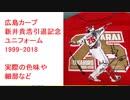 広島カープ 新井貴浩引退記念ユニフォーム 1999-2018 サイン印刷入り 実際の色味や細部など