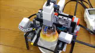 レゴでプッチンプリンをプッチンする機械