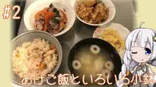 女子大生あかりのお手軽Kitchen#2 「あげご飯といろいろ小鉢」