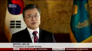 韓国 文大統領:終戦宣言が出されるのは時