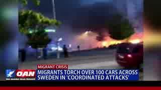 スウェーデンで移民が車100台燃やす